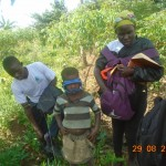 UCF team surveying a prospective sorghum farmer's land