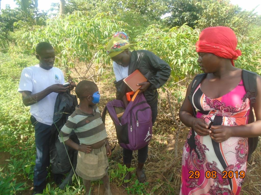 UCF team surveying a prospective sorghum farmer's land
